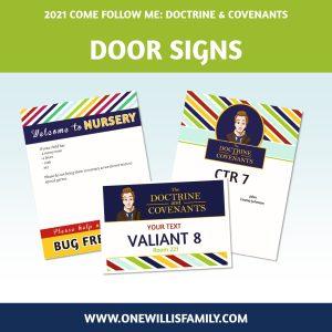 2021 LDS Primary Door signs