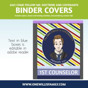2021 Primary Binder Covers