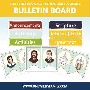 2021 LDS Primary Bulletin board