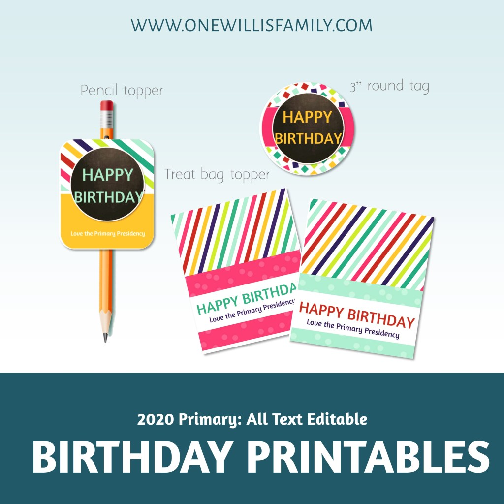 2020 Birthday Printables