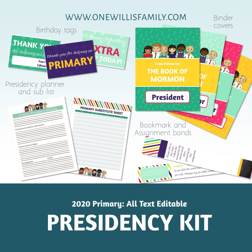 LDS Primary Presidency kit