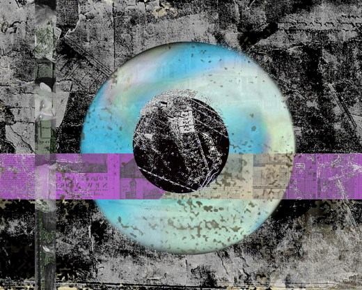original collage Cloudy Eye by JRC