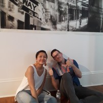 thumbs up at Antenna Gallery!
