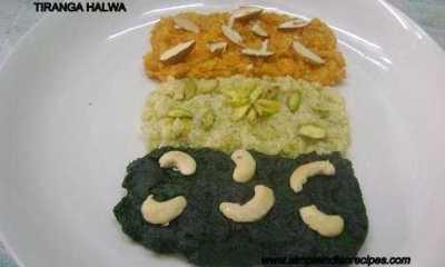Deliciously Colorful Tiranga Halwa