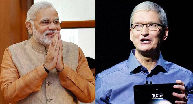 Tim Cook praised Narendra Modi