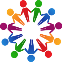 circle of people multi colors