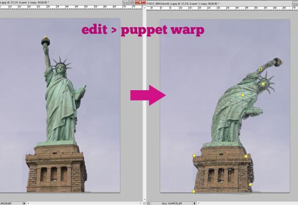 puppet-warp 8 Photoshop Tricks I Wish I Knew When I Was a Student
