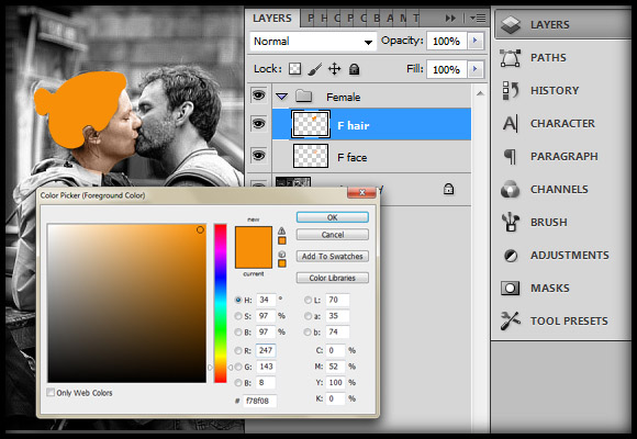 image-11 Working with Photoshop's Blending Modes to Color a Black and White Photo