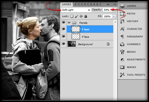 image-12 Working with Photoshop's Blending Modes to Color a Black and White Photo