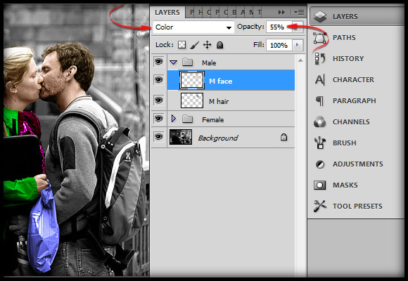 image-24 Working with Photoshop's Blending Modes to Color a Black and White Photo