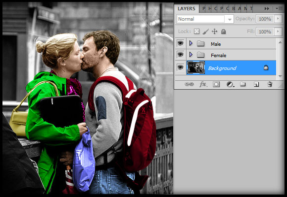 image-37 Working with Photoshop's Blending Modes to Color a Black and White Photo