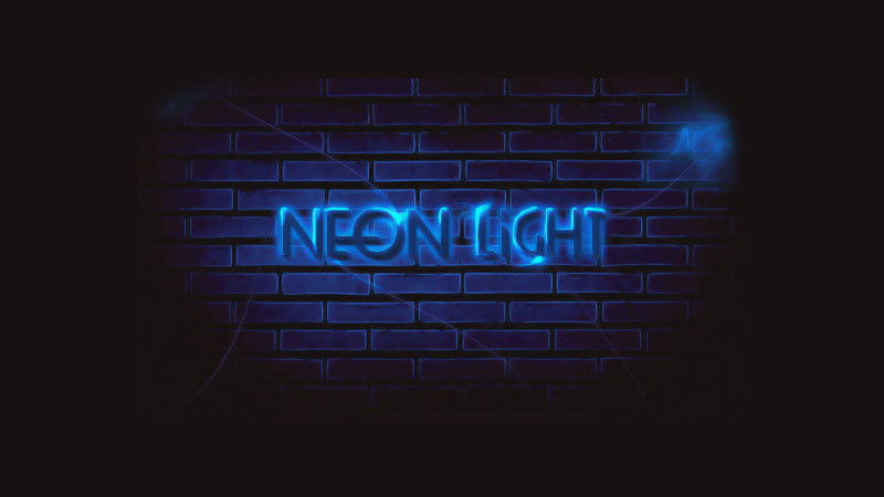 20-NeonLightTextEffect Useful and Professional Photoshop Tutorials of 2014