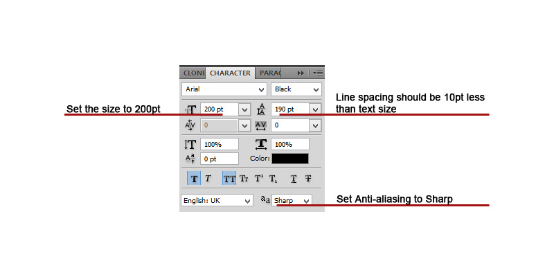 1-TextSettings How to Create Stunning Pop-Out Text on An Image