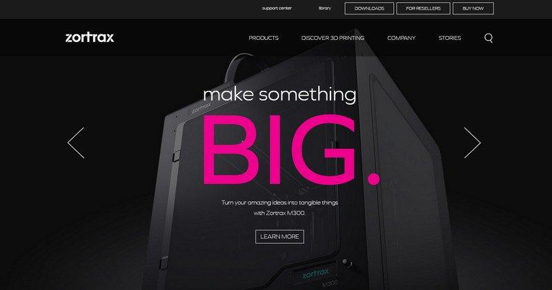 18-Zortrax 20 Beautiful and Stylish Startup Web Designs