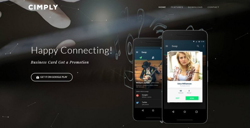 4-Cimply 20 Beautiful and Stylish Startup Web Designs