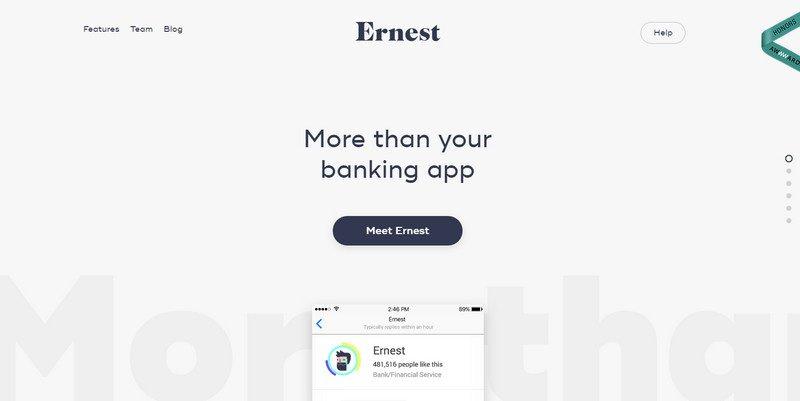 6-Ernest 20 Beautiful and Stylish Startup Web Designs