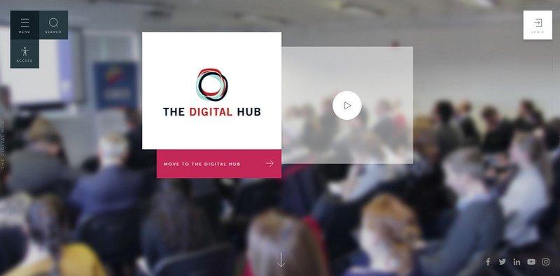 9-The-Digital-Hub 20 Beautiful and Stylish Startup Web Designs