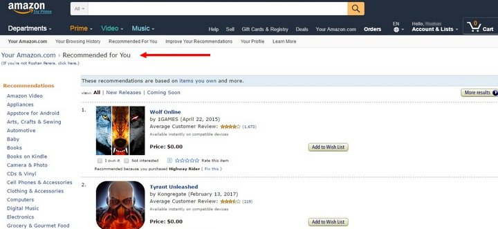 amazon 5 Tips and Tricks For An Effective eCommerce Site With 10 Brilliant Examples