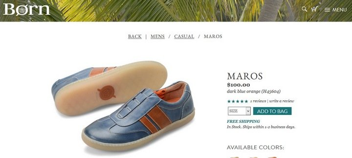 born-shoes 5 Tips and Tricks For An Effective eCommerce Site With 10 Brilliant Examples