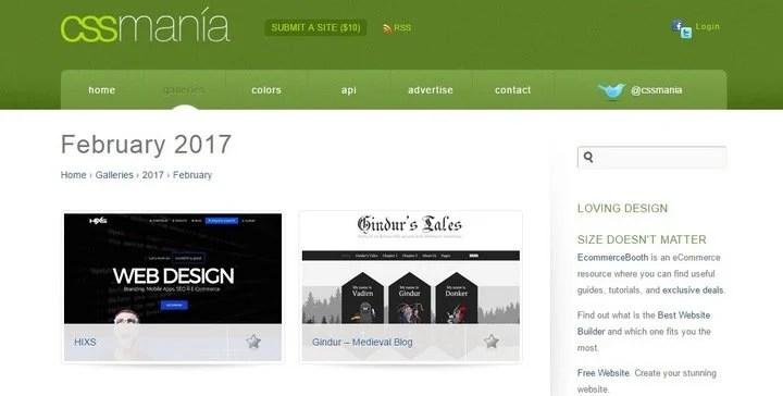 css-mania 15 Amazing CSS Web Design Galleries
