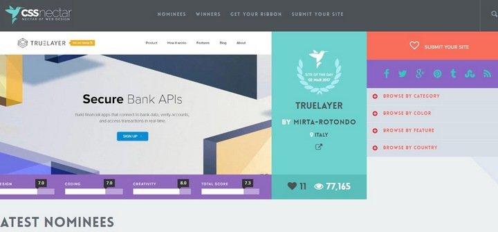 css-nectar 15 Amazing CSS Web Design Galleries