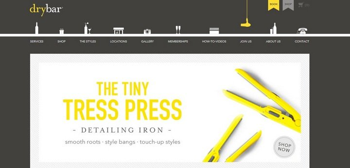drybar 5 Tips and Tricks For An Effective eCommerce Site With 10 Brilliant Examples