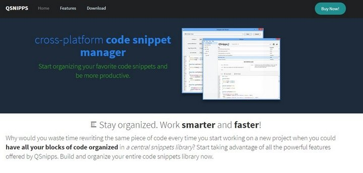 qsnipp 15 Useful Code Snippet Tools That Will Help You Store And Manage Your Code Library