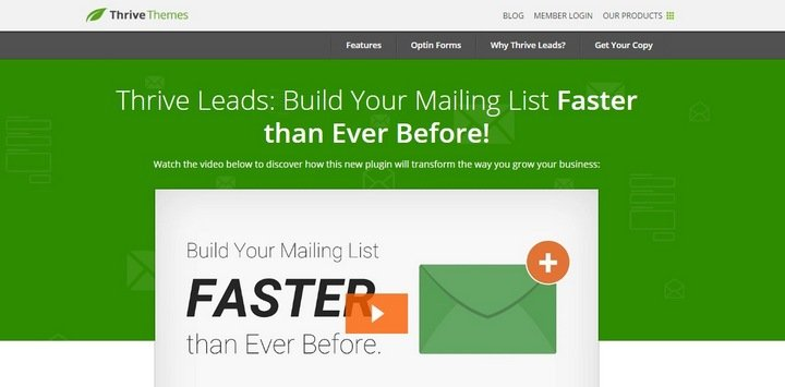 thrive-leads 8 Best WordPress Mailing List Plugins For Getting More Subscribers