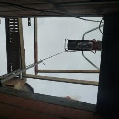 Treuil pour faire monter les brouettes de ciment