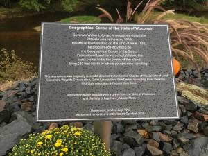 geographic center plaque