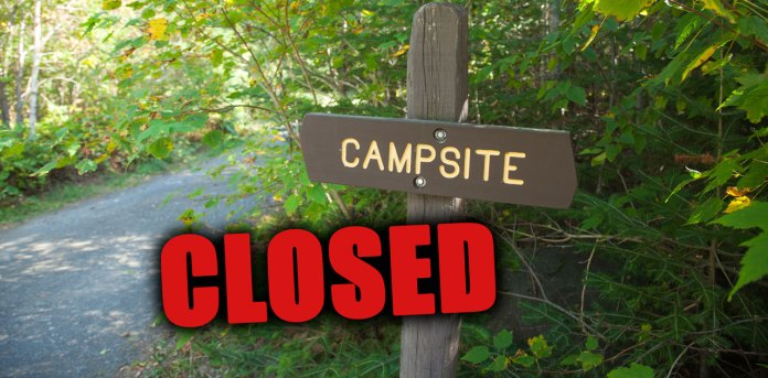 campground closed