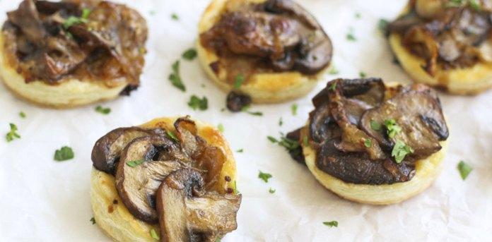 mini mushroom tart