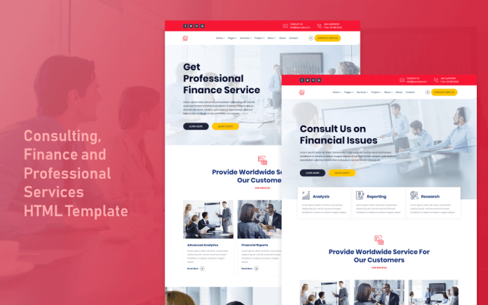 Finance Business And Finance Template Html5 Ongoing Themes
