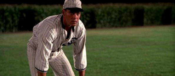 "Baseball player in the film ""field of dreams"""