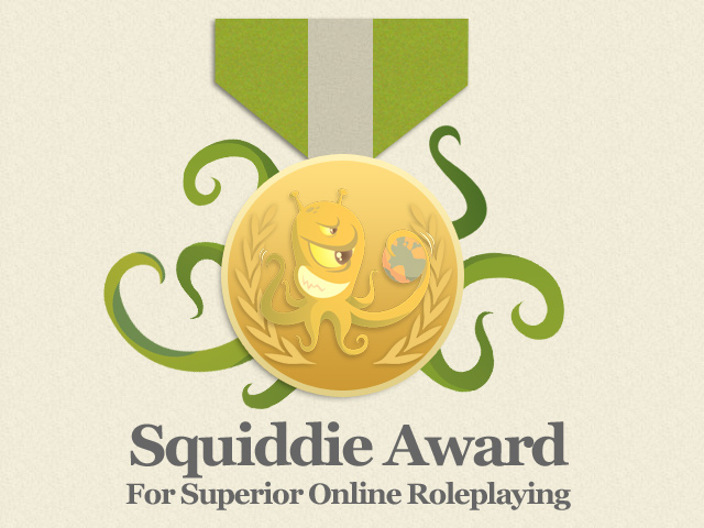 Squiddie award for superior online roleplaying