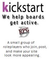 Kickstart we help roleplay boards get active