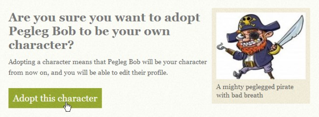 adopt roleplay character