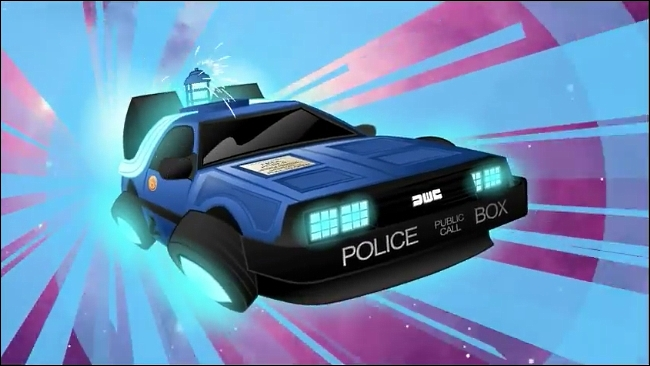 tardis delorean