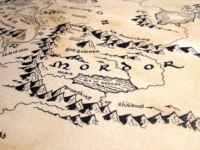 map of mordor