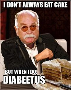 I don't always eat cake
