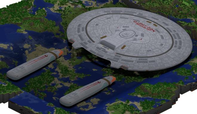 USS Enterprise in Minecraft