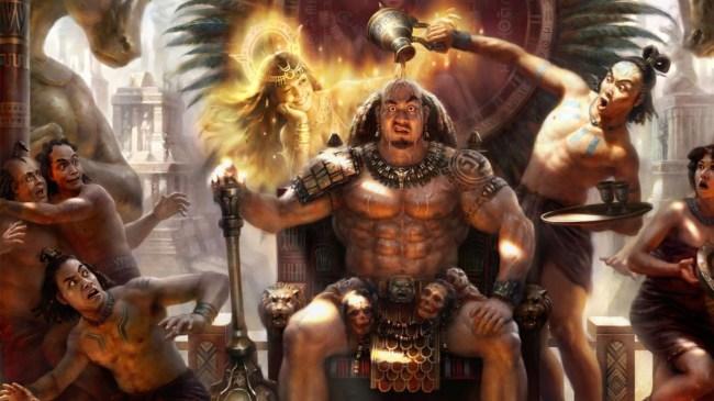 Aztec or Mayan warriors