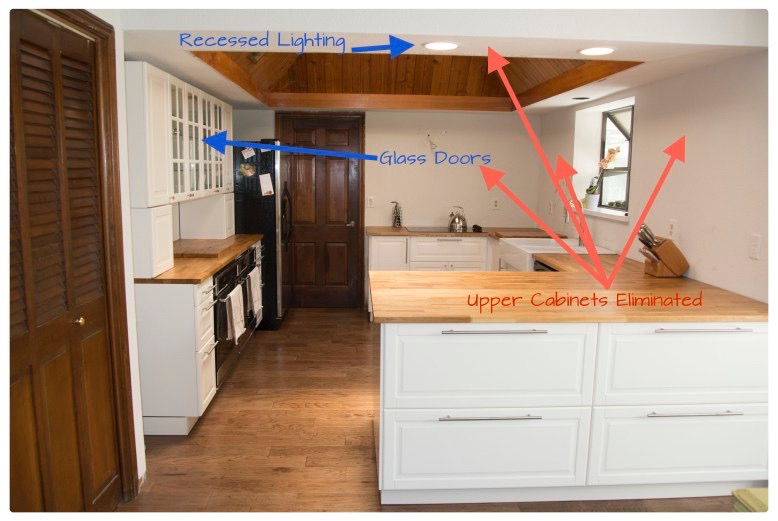 Removed upper cabinets during old kitchen renovation