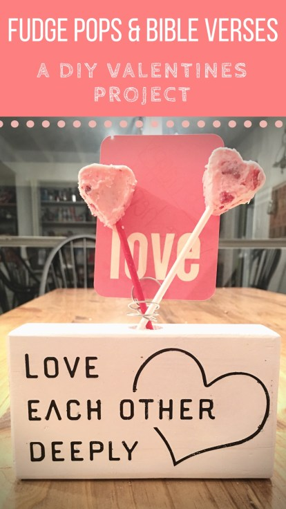 DIY Valentines Project | Bible Verse Holder