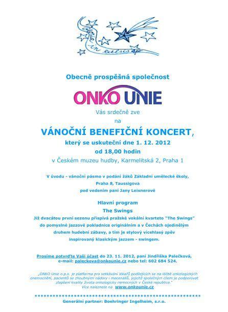 Pozvánka na koncert 2012