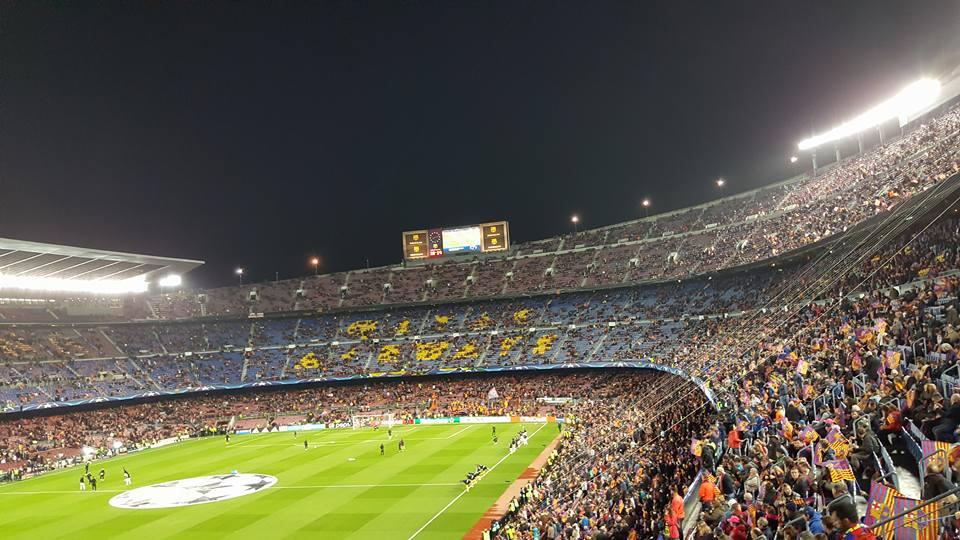 O γνωστός Λαρισαίος που είδε το χθεσινοβραδινό έπος της Μπάρτσα από τις κερκίδες του Camp Nou (Φωτό)