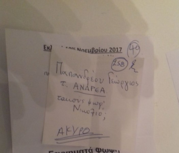 «Ακούς Φωφ' και Νικολιό;» -Το απίθανο άκυρο ψηφοδέλτιο στην κάλπη της Λάρισας!