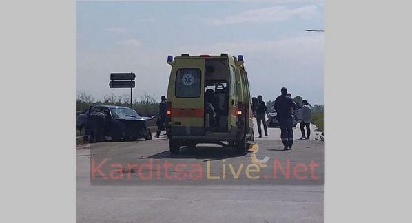 Τροχαίο ατύχημα με τέσσερις τραυματίες στην Καρδίτσα