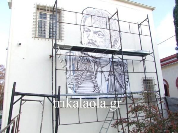 Ένα έργο τέχνης για τον Βασίλη Τσιτσάνη στα Τρίκαλα (φωτο)