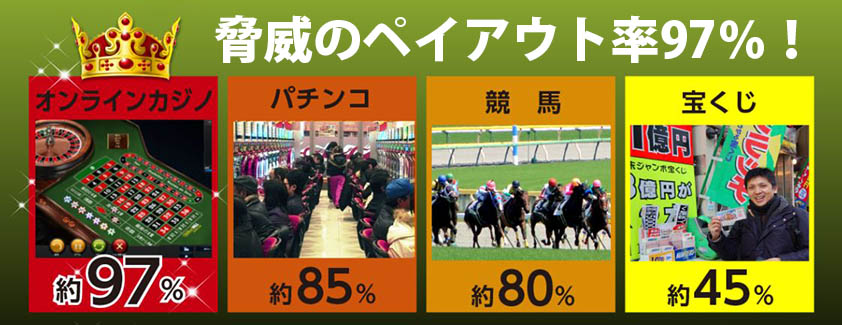 日本のギャンブルよりも高いペイアウト率